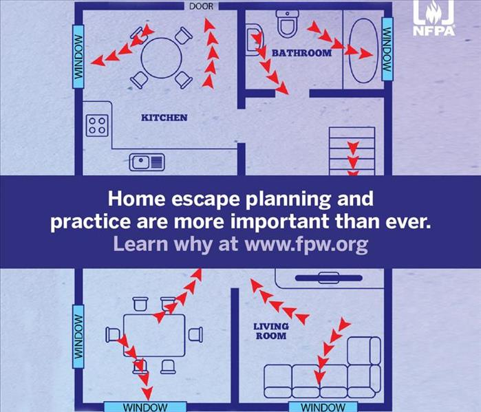 Sketch of a residential escape plan